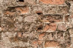 Grunge brudna stara ceglana kamienna ściana Fotografia Stock