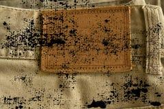 Grunge brudny Opróżnia etykietki drelichową teksturę dla tradycyjnego biznesowego tła Zdjęcie Stock
