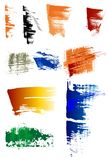 Grunge brush pack. A series of grungy brushes Stock Images