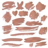 Grunge Brush Stroke. Copper vector illustration set Stock Photography