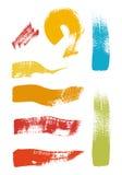 Grunge brush stroke set Stock Image