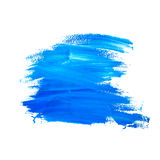 Grunge Brush Strokes of Blue Paint