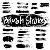 Grunge brush strokes set Stock Photo