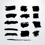 Grunge brush strokes Stock Photo