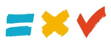 Grunge brush symbol set Royalty Free Stock Images