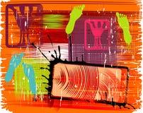 Grunge brushed background Stock Images