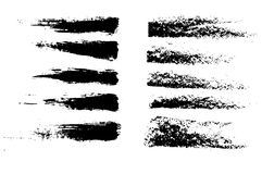 Grunge brushes Stock Photos