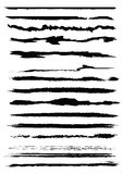 Grunge brushes. Set of grunge line brushes, original vector illustration Stock Images