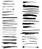 Grunge brushes Stock Image