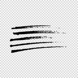 Grunge Brushes. Dirty Artistic Design Elements. Vector illustration. Grunge Brushes. Dirty Artistic Design Elements Royalty Free Stock Images