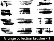 Grunge brushes line Royalty Free Stock Images