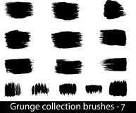 Grunge brushes line Royalty Free Stock Photos