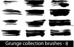 Grunge brushes line. Vector illustration - Grunge brushes line Stock Images