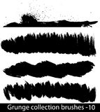 Grunge brushes line Royalty Free Stock Image