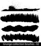 Grunge brushes line. Vector illustration - Grunge brushes line Royalty Free Stock Image