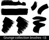 Grunge brushes line Royalty Free Stock Photos