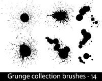 Grunge brushes line Stock Photography