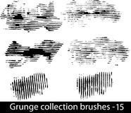 Grunge brushes line. Vector illustration - Grunge brushes line Royalty Free Stock Images