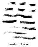 Grunge brushes Stock Photos