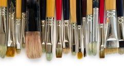 Grunge Brushes. Stuff for artist.  over white Royalty Free Stock Photo