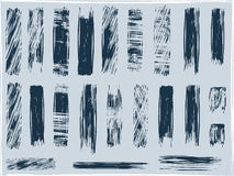 Grunge brushes, vector Stock Photography