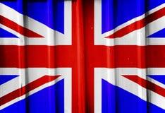 Grunge brytyjska flaga Obrazy Stock