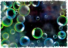 Grunge bubbles Royalty Free Stock Photography