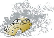 Grunge bug illustration Royalty Free Stock Image