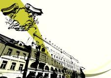 Grunge building Royalty Free Stock Image