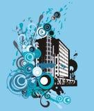 Grunge building background Stock Photo