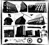 Grunge buildings. Design, vector illustration Royalty Free Stock Photography