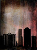 Grunge buildings in Chicago Royalty Free Stock Image