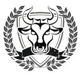 Grunge bull head emblem Royalty Free Stock Photos