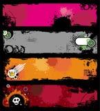 grunge bunners стильное Стоковая Фотография