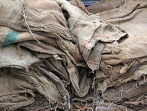 Grunge Burlap Sacks Royalty Free Stock Images