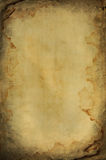 Grunge burned and wet paper space Royalty Free Stock Photo