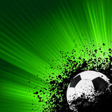 Grunge burst football poster. EPS 8 Royalty Free Stock Photography