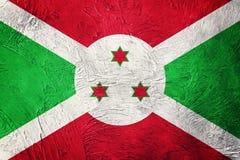 Grunge Burundi flaga Burundi flaga z grunge teksturą Obraz Royalty Free