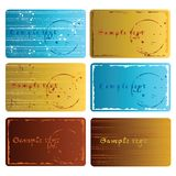 Grunge business cards Royalty Free Stock Photos