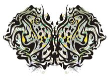 Grunge butterfly formed by toads Royalty Free Stock Image