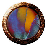 Grunge Button. A rusty broken button with a grunge texture Stock Images