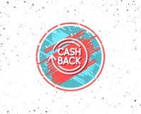 Cashback service line icon. Money transfer. Royalty Free Stock Image
