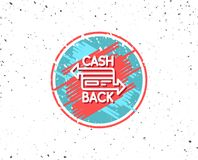Credit card line icon. Cashback service. Royalty Free Stock Photos