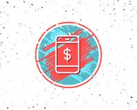 Mobile Shopping line icon. Online buying. Stock Photos