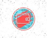 Money Wallet line icon. Cash symbol. Royalty Free Stock Photo