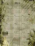 Grunge calendar 2014 Royalty Free Stock Photography