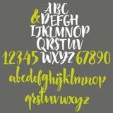 Grunge calligraphic font Stock Photos