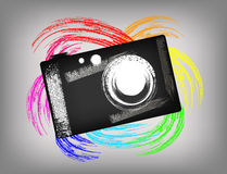 The grunge camera Royalty Free Stock Photos