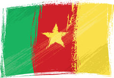 Grunge Cameroon flag Stock Images
