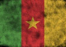 Grunge Cameroon Markierungsfahne Lizenzfreie Stockfotografie